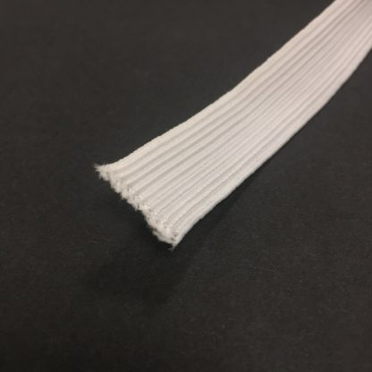 19mm White Elastic
