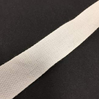 19mm White Standard Cotton Tape