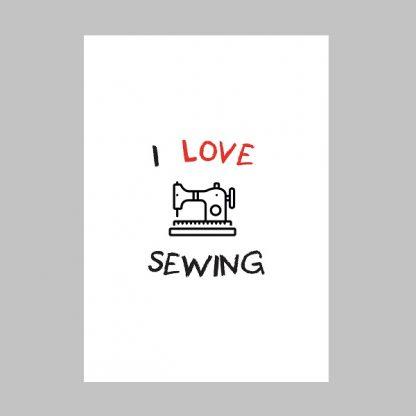 Wall Art Print I Love Sewing